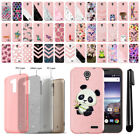 For ZTE Prestige 2 N9136 Slim Sparkling Light Pink TPU Silicone Case Cover + Pen
