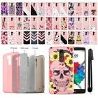 For LG Stylus 2 Plus Stylo 2 Plus Slim Sparkling Light Pink TPU Case Cover + Pen