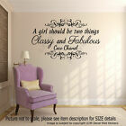 Coco Chanel Girl's inspiring Quote Vinyl Wall Sticker Home decor Bedroom Decals