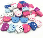 New Bear Wooden Beads Baby Pacifier Clip Spacer Beading Bead Accessories  24mm