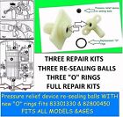 THREE PRESSURE RELIEF DEVICE (PRD) REPAIR KITS FIT TRITON SHOWERS 82800450