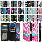 For Motorola Moto Z Droid Edition All-In-One PU Leather Wallet Cover Case + Pen