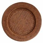 Set of 4 or 6 Round Woven Rattan Wicker Underplate Placemats