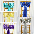 150 New SATIN Chair Sashes Bows Ties Wedding Decorations Wholesale - 28 colors!