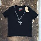 New Bent & Corrupt V Neck T Shirt With Bead Necklace Print Size L BNWT RRP £60