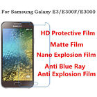 3pcs For Samsung Galaxy E3 Anti Explosion,Matte Anti Scratch Screen Protector