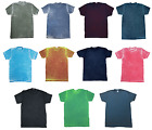 Multicolor Acid Wash T-shirts  Adult S - 3XL Short Sleeve 60/40 Cotton/Polyester
