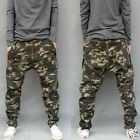 Camo Mens Summer Plus Sz Sports Harem Loose Trousers Baggy Drop Crotch Jeans New