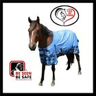 LOVE MY HORSE 600D 5'3 - 6'6  600D Waterproof Rainsheet Std Rug Sky /Tarten Blue