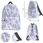 Unicorn Print Multi Color 3D Rainbow Backpack Travel Rucksack School Bag UK Lot