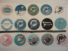 15 Miami Dolphins mix  buttons flat backs or pin badges cabochons magnets $5.5 USD on eBay