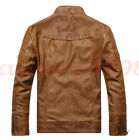 2017 New Mens Casual coat outerwear fashion Slim leather jacket Multi-colorsA