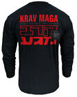 LONG SLEVEE T-SHIRT KRAV MAGA ! IDEAL FOR MMA, TRAINING, CASUAL WEARS! LS327 BLK