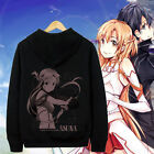 Anime Coat Sword Art Online SAO Asuna Hoodie Cosplay Jacekt Zipper Sweatshirts