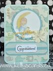 KOScraps4u CHOICE Baby Boy Newborn Shower Cute Premade SEWN Cards Paper Piecing