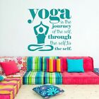 Inspired Quote Yoga Wall Sticker Sport Gym Living Room Romovable Art Vinyl Decor