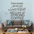 Coffee Inspiration Wall Decal Love Family Quote Vinyl Living Room Kitchen Decor