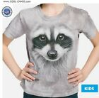 Funny Raccoon T-Shirt / Funny Animal,tie dye tee,3D Raccoon Face,Cool Kids Tee
