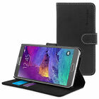 Snugg Samsung Galaxy Note 4 Case Folding Rear Panel Anti Scratch Bonded Leather