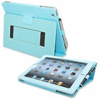 Snugg iPad 2 Leather Case Magnetic Auto Wake Velcro Flap Smart Cutout Ports