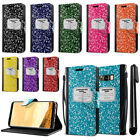 For Samsung Galaxy S8 G950 Composition Book Design Wallet Cover Case Stand + Pen