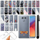For LG G6 H873 US997 VS998 AS993 Ultra Thin Clear TPU Case Phone Cover + Pen
