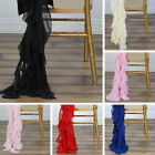 25 pcs CHIFFON Curly CHAIR SASHES Wedding Party Ceremony Decorations WHOLESALE