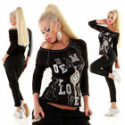 New Women Party Casual Embroidered Black Top Long Sleeve Size S=UK8 ,M=10 ,L=12