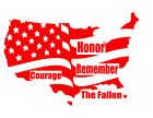 USA Flag Map Honor Courage Remember The Fallen Vinyl Decal Sticker Car Choice