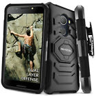 T-Mobile REVVL Case, Evocel Rugged Holster Dual Layer Case w/ Kickstand & Clip