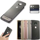Shockproof Aluminum Metal Bumper +Carbon Fiber Hard Case For MOTO Z2 Play Force