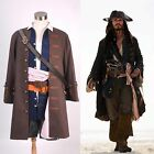 Pirates of the Caribbean Jack Sparrow Costume Cosplay Set Halloween