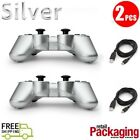 2 lot New Wireless Bluetooth Game Controllers For PS3 and Charging Cable