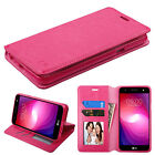 for LG X Charge / M327 NEW PINK WALLET LEATHER SKIN STAND ACCESSORY COVER CASE