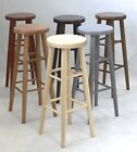 BRAND NEW *SOLID&STURDY* HARD BEECH WOOD KITCHEN BAR STOOLS MADE TO ORDER H:80cm