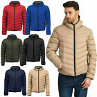 New Mens Brave Soul Padded Hooded Polyester Padded Zipped Jacket Size S M L XL