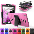 Hybrid PC Rubber Screen Protector Bracket Case For iPad 2345 Mini 1234 Air 2 Pro