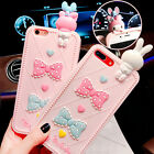 3D Cute Melody Rabbit Rugged Rubber Shockproof Case Cover for iPhone 6/6S/7 Plus