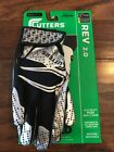 NEW Adult Cutters Rev 2.0 Football Receiver Gloves C-Tack Black Size S M or L