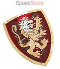 BESTSALLER 45 X 34.5 CM NOBLE KNIGHT SHIELD (RED/GOLD) - TOYS BRAND NEW