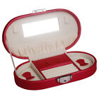 Travel Lock Jewelry Box Organizer for Women Girls Necklace Earring Ring Necklace