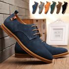 New Mens Casual Business Oxfords Shoes Classic Dress Formal Suede Leather Shoes