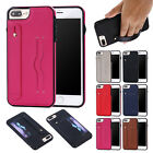 Hand Strap PU Leather Christmas card Protective Back Cover Case For iPhone 5s 6s 7 Plus 8