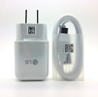 Original Fast Charging Wall Charger USB Type C Data Cable Cord For LG G5 G6 V20