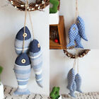 Hanging Wooden Fish Decorated Mediterranean Style Vintage Home Decoration