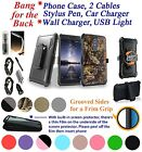 for ZTE Imperial Max / Max Duo Screen Protector Cover Hybrid Stand Holster Case+