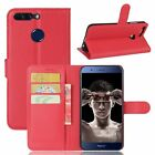 Kolorfish Flip Wallet PU Leather Corporate Case for Huawei Honor 8 Pro -Red