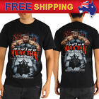 AU Men T-shirt Muay Thai MMA Kick Boxing Wai Kru Fighter Basic Fan Tee Size S-XL