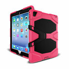 For Apple iPad Tablet Shockproof Military Rubber Hard Case + Screen Protector