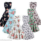 US STOCK 50'S ROCKABILLY DRESS Vintage Swing Pinup Retro Housewife Party Dres